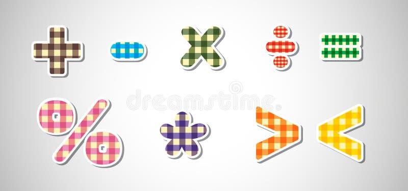 Różni matematyka znaki ilustracji