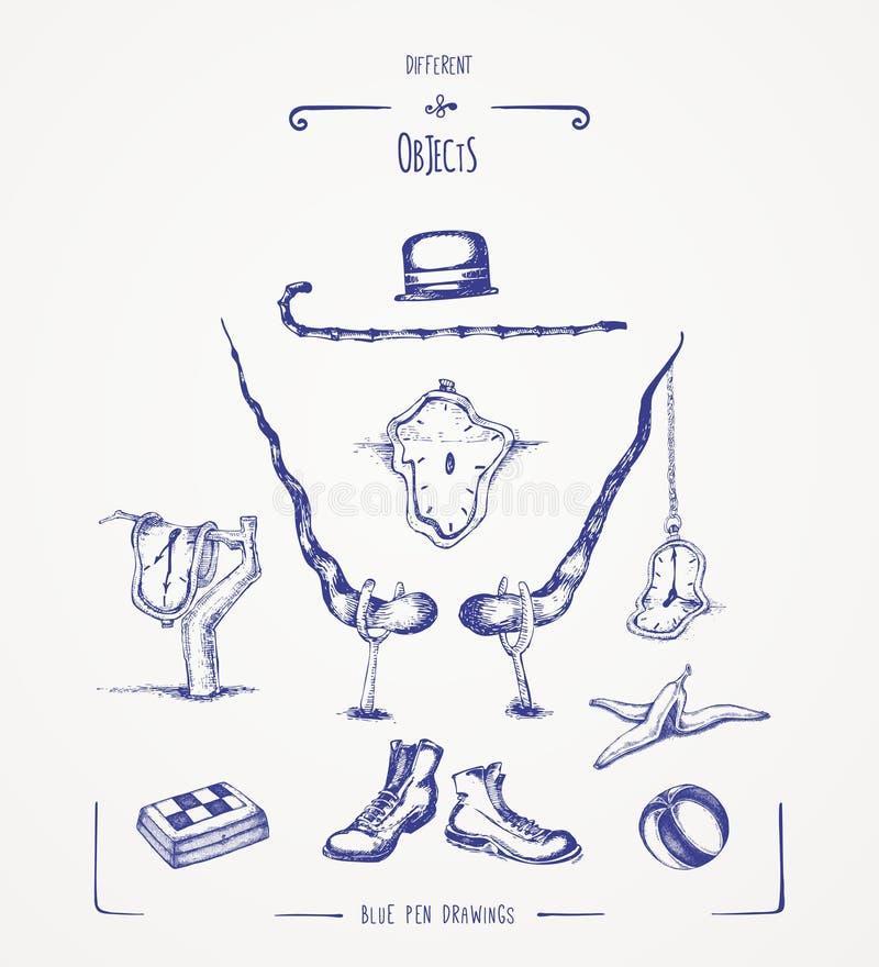 różni przedmioty royalty ilustracja