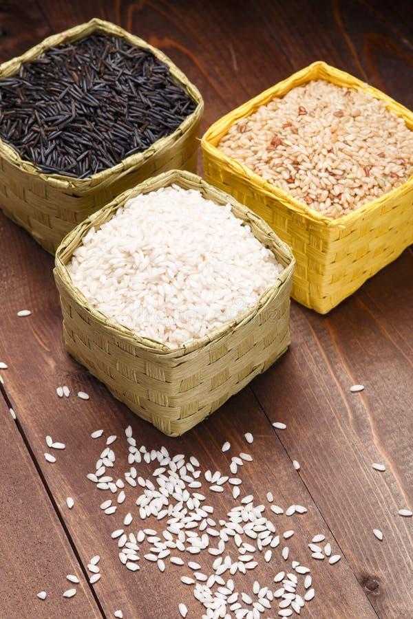 Różni ryż zdjęcia royalty free