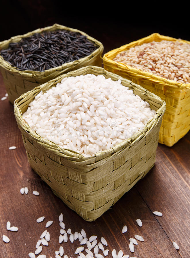 Różni ryż zdjęcia stock