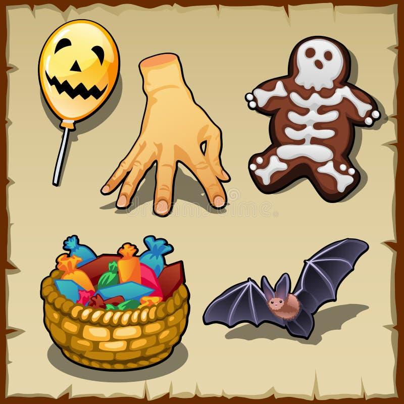 Różni symbole dla Halloween i inny projekt royalty ilustracja