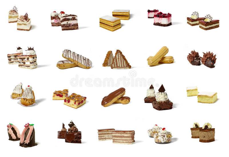Różni typ ciasto produkty zdjęcia royalty free