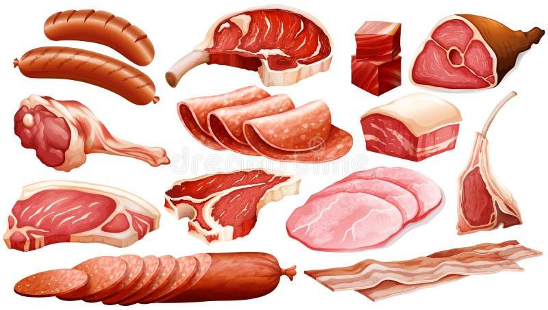 Różni typ mięśni produkty ilustracja wektor