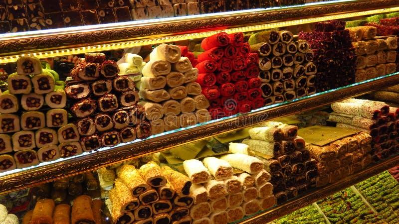 Różni typ Sprzedający przy bazarem Turecki zachwyt zdjęcie stock