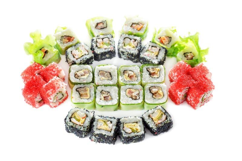 Różni typ sushes obraz royalty free