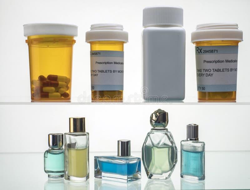 Różni typy kosmetyczni kocowania i medycyny obrazy stock