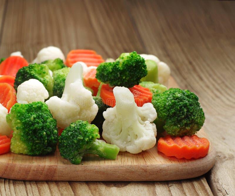 Różni warzywa marznący obrazy stock