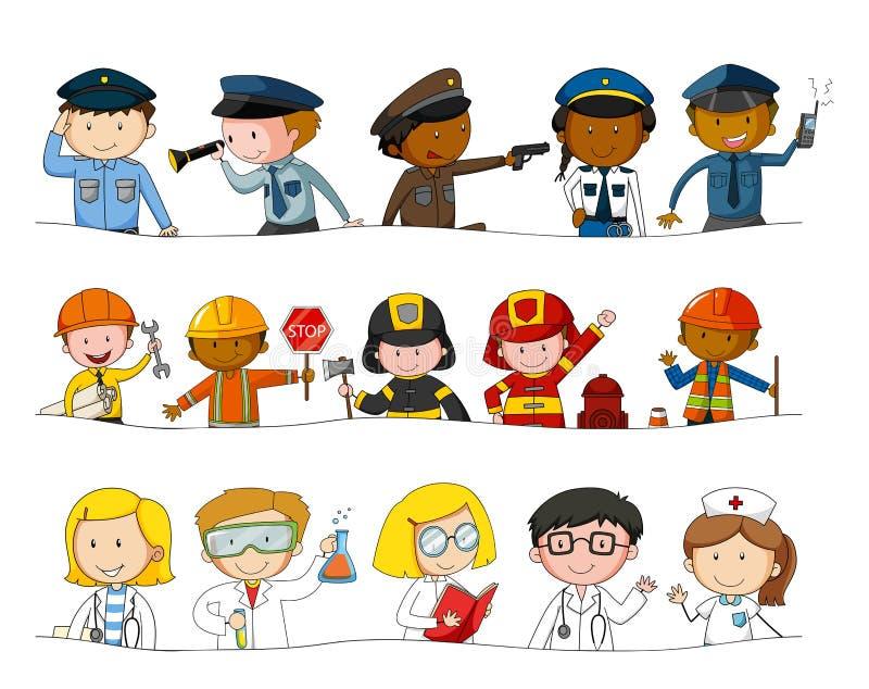 Różni zajęcia jakby ilustracja wektor