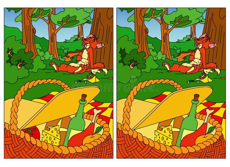 różnicy znalezisko ilustracji