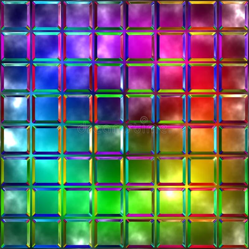 Różnobarwny szkło ilustracja wektor