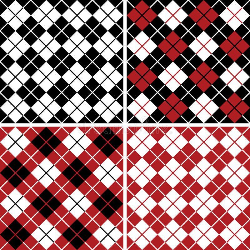 różnokolorowy wzór w robieniu na drutach arlekinu schematu royalty ilustracja