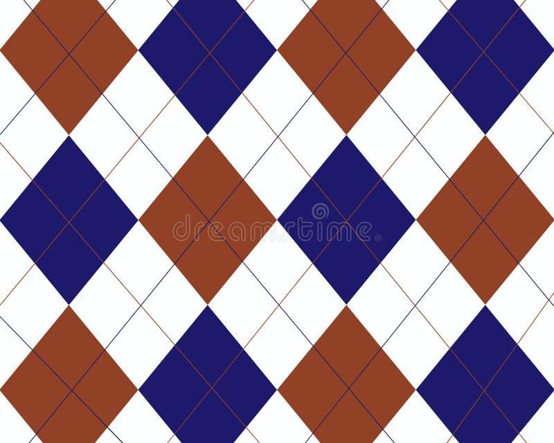 różnokolorowy wzór w robieniu na drutach niebieskiej czerwonym white ilustracji
