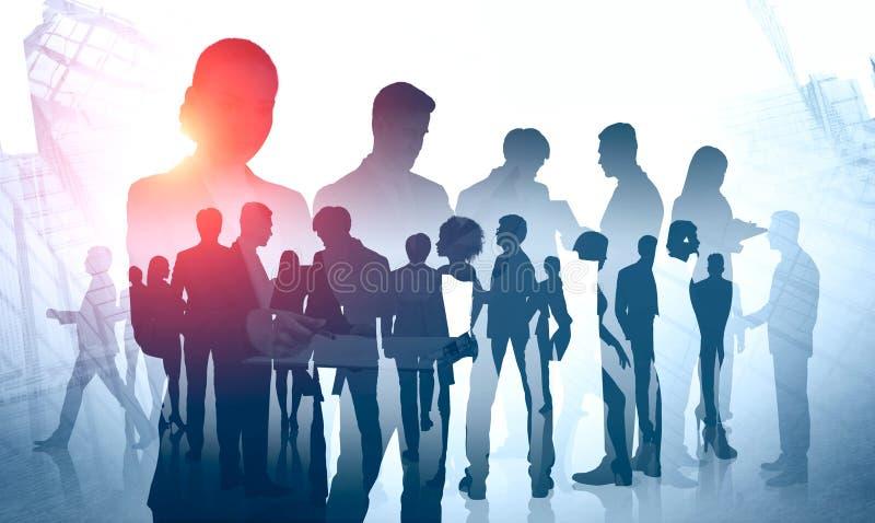 Różnorodna biznes drużyna, międzynarodowa firma ilustracji