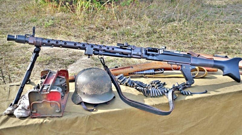 Różnorodna ww2 broń zdjęcia stock