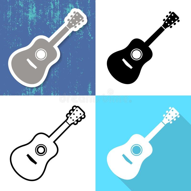 Różnorodne gitar karty ilustracji