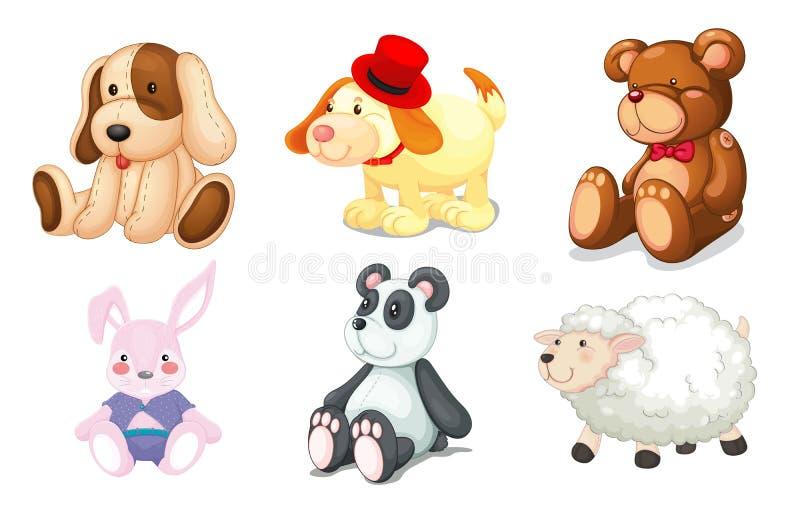 Różnorodne zabawki ilustracji
