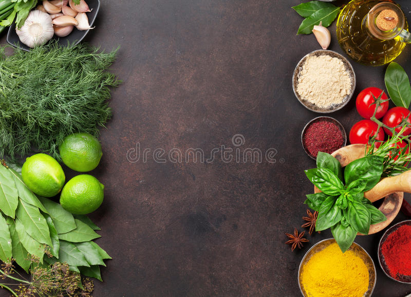 różnorodne ziele pikantność zdjęcie royalty free