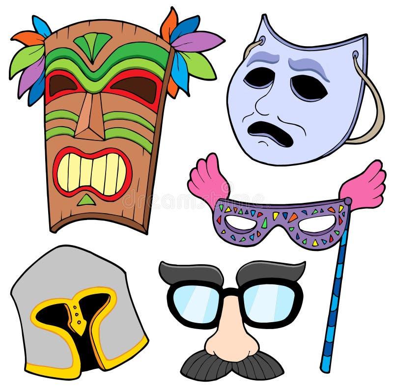 różnorodnej 2 inkasowej maski ilustracja wektor