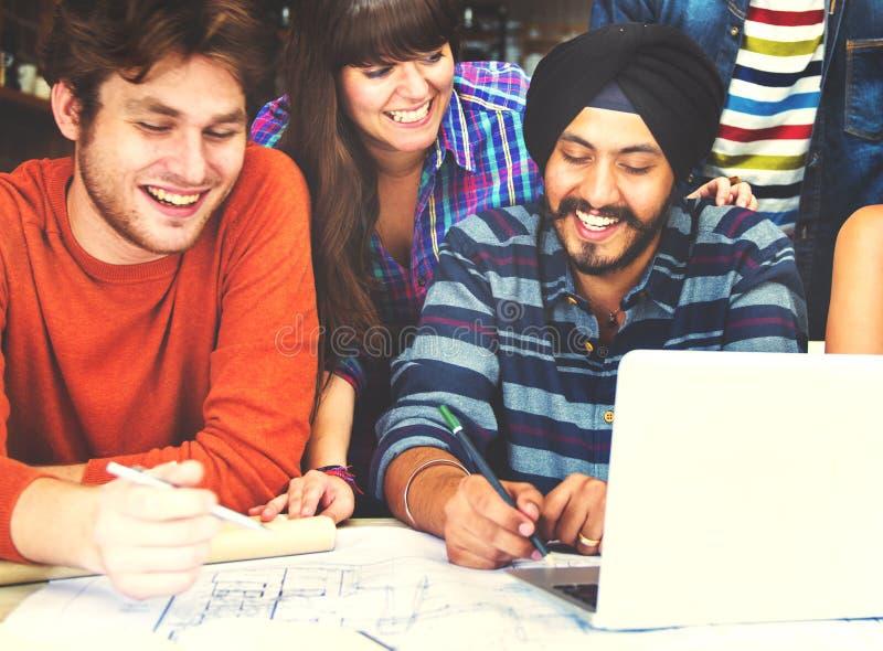Różnorodni architekta Grupowego Pracującego pojęcia ludzie zdjęcie royalty free