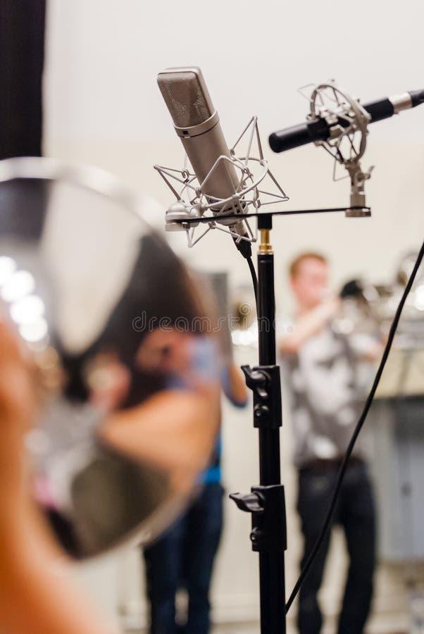 Różnorodni instrumenty i szczegóły od muzycznego zespołu windband obraz royalty free