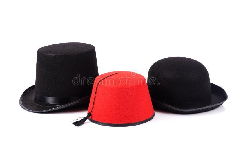Różnorodni kapelusze zdjęcie stock