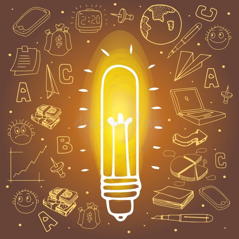 Różnorodni kreatywnie biznesowi infographic elementy royalty ilustracja