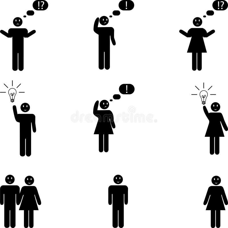 Różnorodni ludzie ikon, majcher etykietki, ludzie guzików i ikony, ludzie logo ilustracja wektor