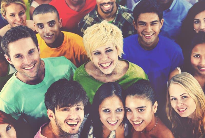 Różnorodni ludzie przyjaciela Togetheress drużyny społeczności pojęcia zdjęcia royalty free