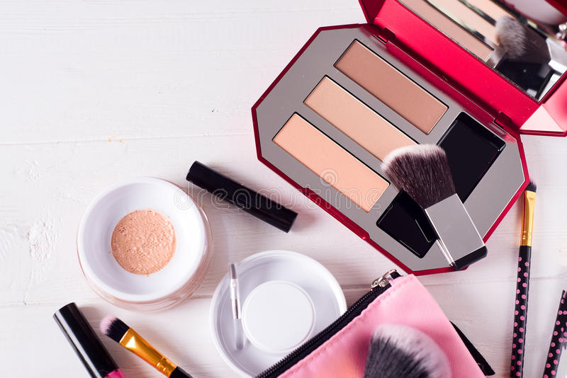 Różnorodni makeup produkty obraz stock