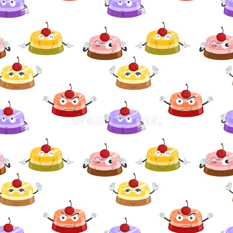 Różnorodni nastroje tort ilustracja wektor