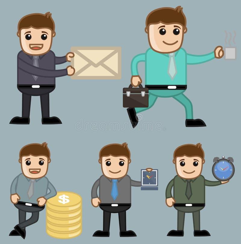 Różnorodni pojęcia - biuro i ludzie biznesu postać z kreskówki Wektorowego Ilustracyjnego pojęcia royalty ilustracja