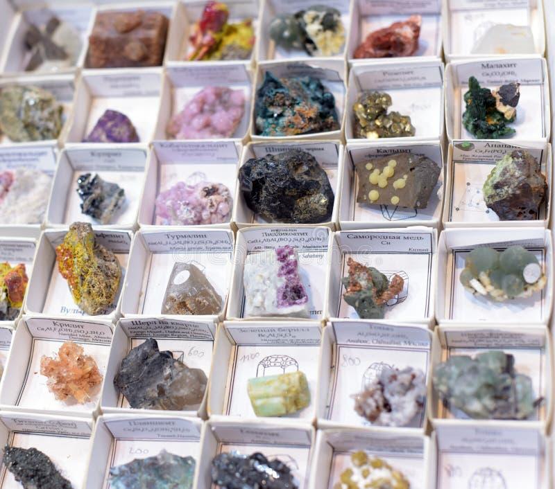 Różnorodni rodzaje kamienie i kopaliny zdjęcie royalty free