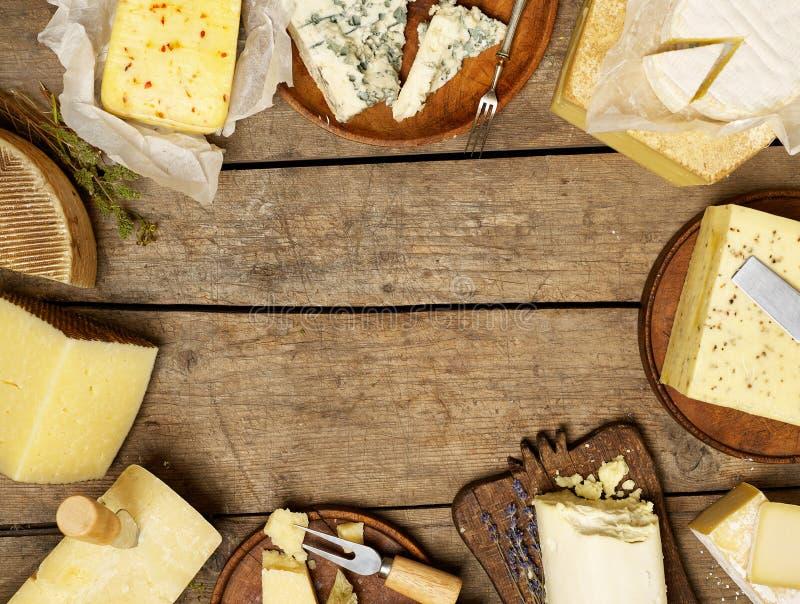 różnorodni serowi typ obraz stock