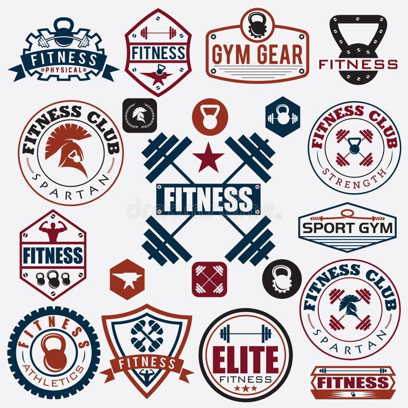 różnorodni sporty, sprawności fizycznych ikony i projektów elementy royalty ilustracja