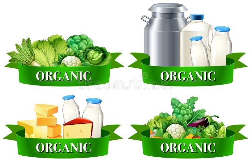 Różnorodni typ żywność organiczna ilustracji