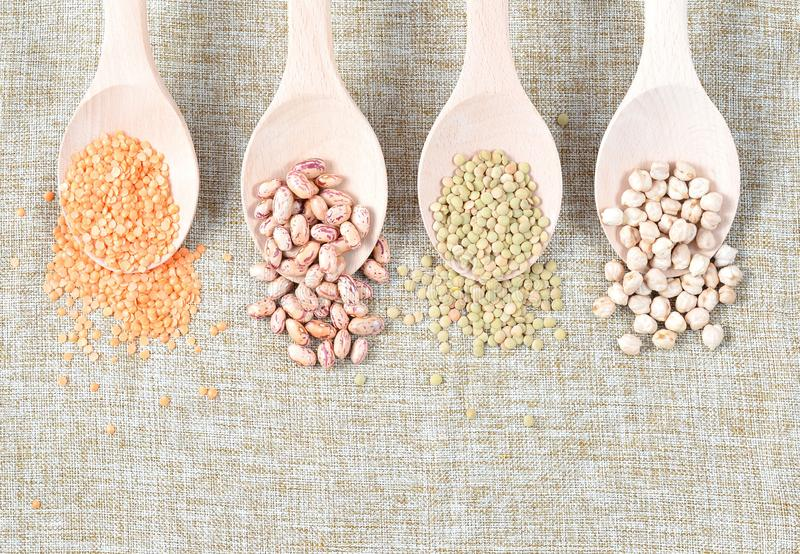 Różnorodni typ legumes fotografia royalty free