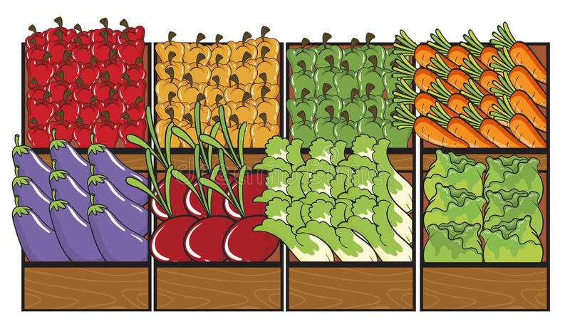 Różnorodni warzywa royalty ilustracja