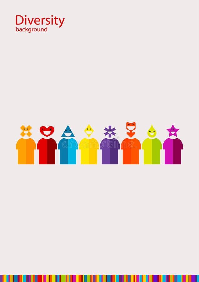 Różnorodność royalty ilustracja