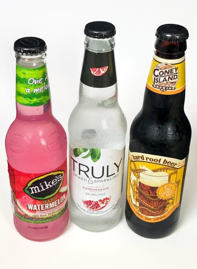 Różnorodność Alkoholiczni napoje zdjęcie royalty free
