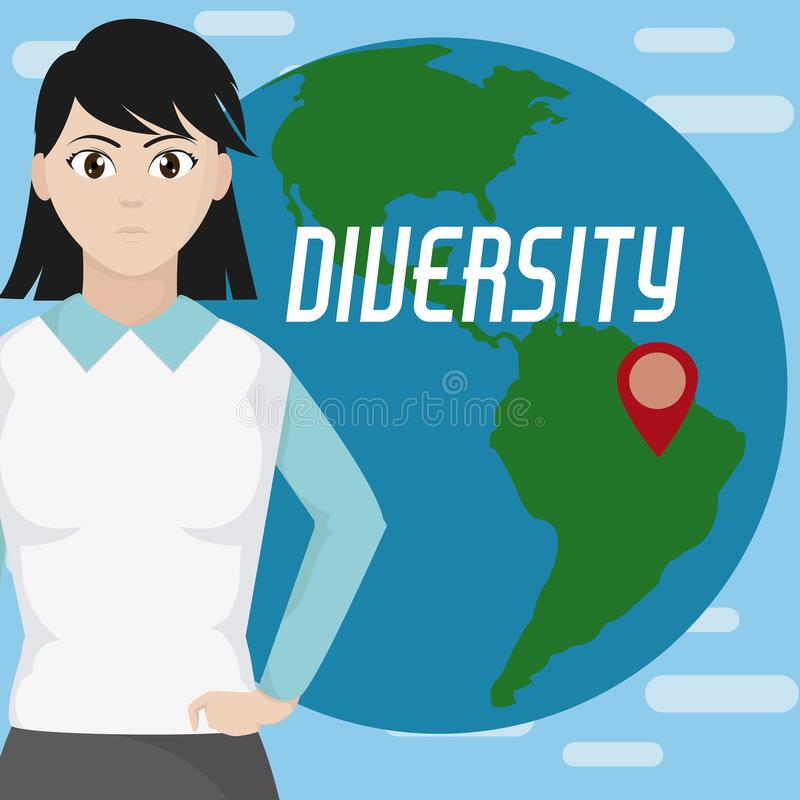 Różnorodność dookoła świata ilustracja wektor