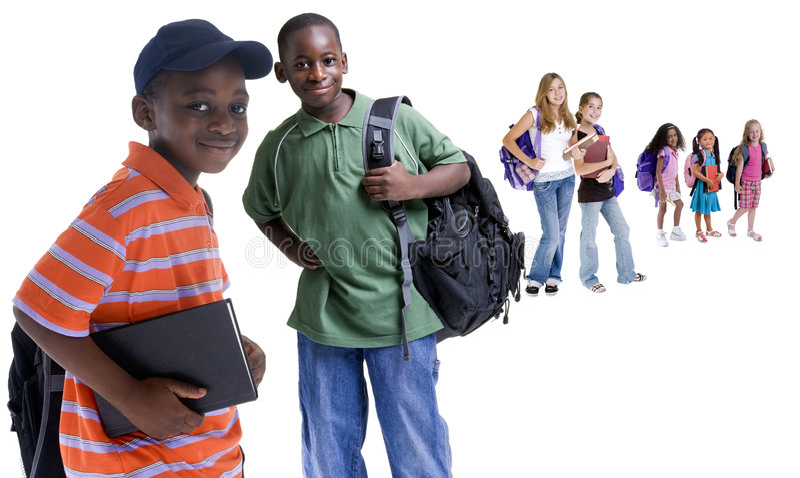 różnorodność dzieci do szkoły obrazy stock