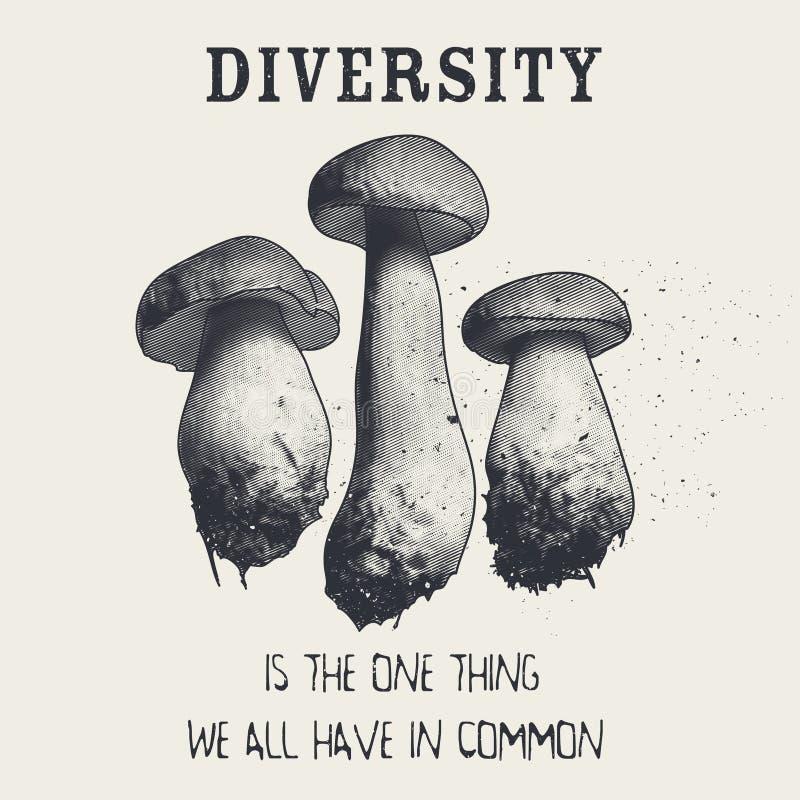 Różnorodność jest jeden rzeczą my wszystko w błoniu obrazy royalty free
