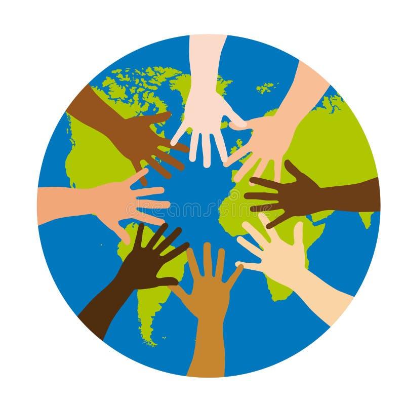 różnorodność nad światem ilustracji