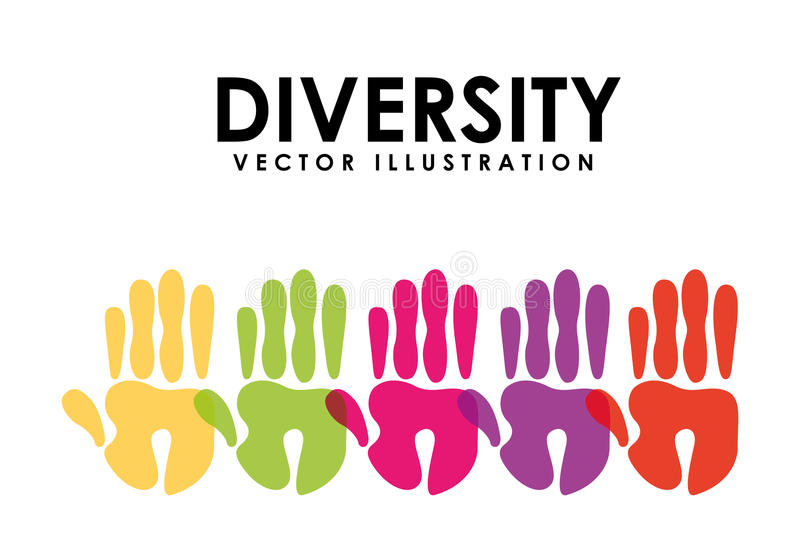 Różnorodność projekt ilustracja wektor