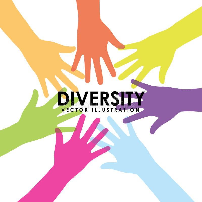 Różnorodność projekt ilustracji