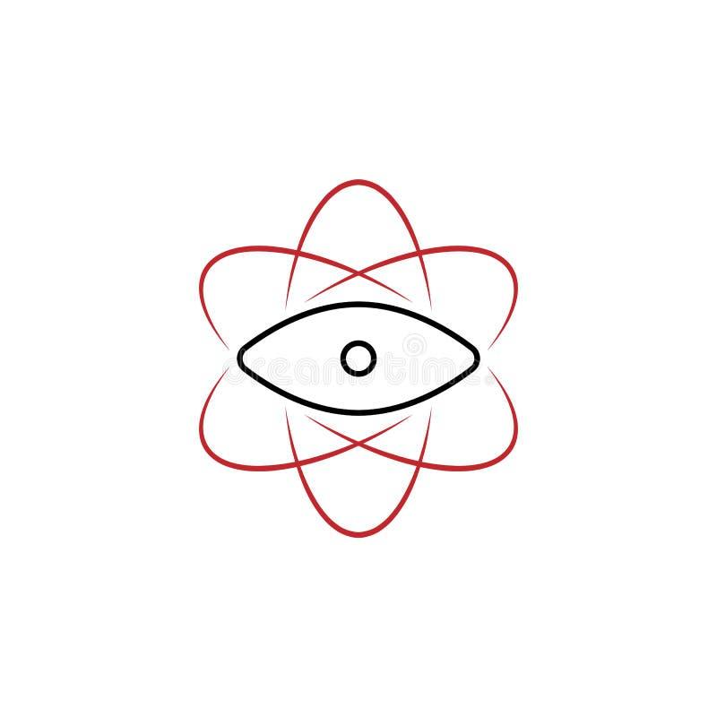różnorodność punkt widzenia 2 barwiąca ręka rysująca ikona Drużyna elementu barwiona ilustracja Konturu symbolu projekt od drużyn ilustracja wektor