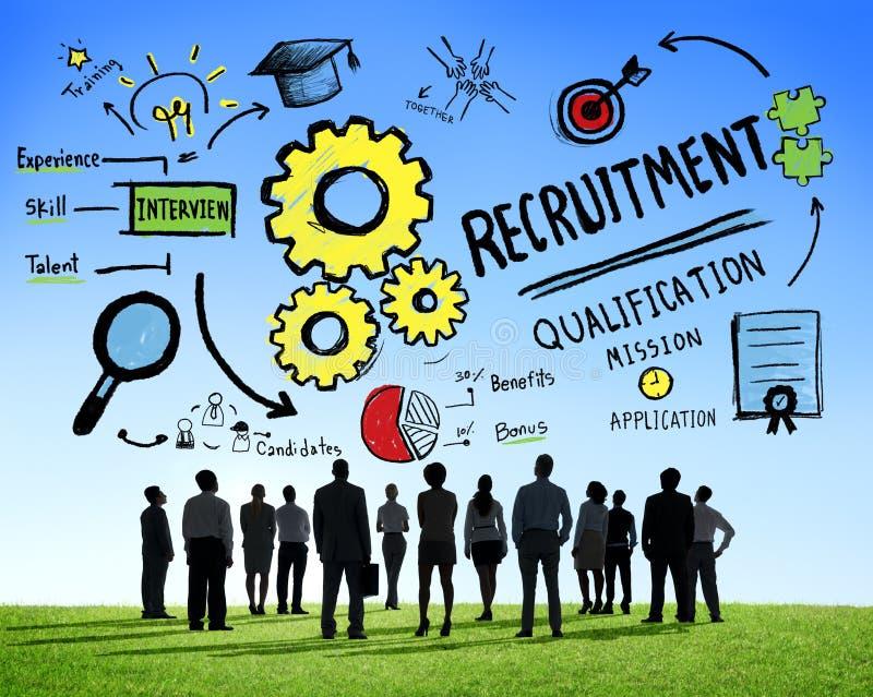 Różnorodność zawodu Rekrutacyjnego pojęcia ludzie biznesu zdjęcie stock
