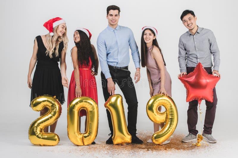 Różnorodności celabrate nowego roku 2019 ludzie obraz stock