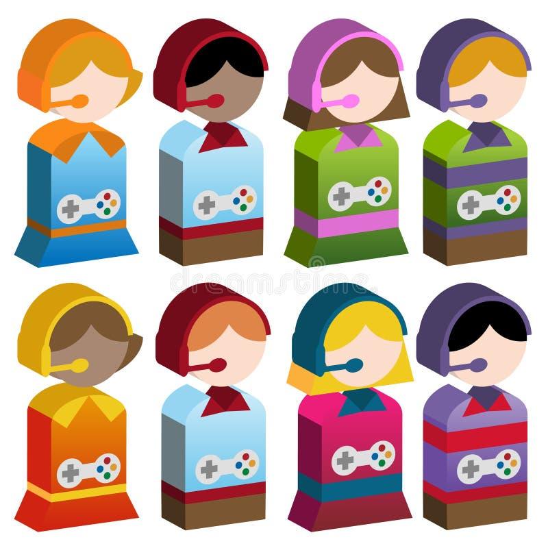 różnorodności gier dzieciaki wideo ilustracja wektor