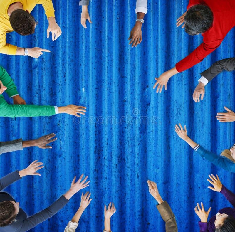 Różnorodności grupa ludzie biznesu Spotyka Planistycznego pojęcie zdjęcia royalty free